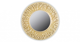 Зеркало CORAL (round gold)