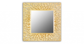 Зеркало CORAL (square gold)