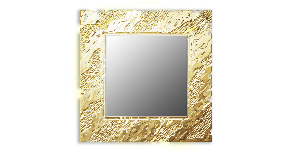 Зеркало REEF (square gold)