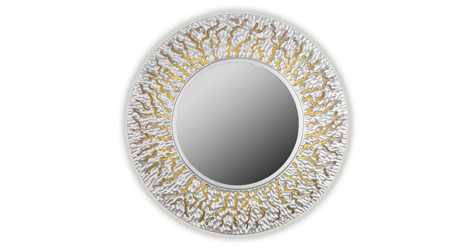 Зеркало CORAL (round silver)