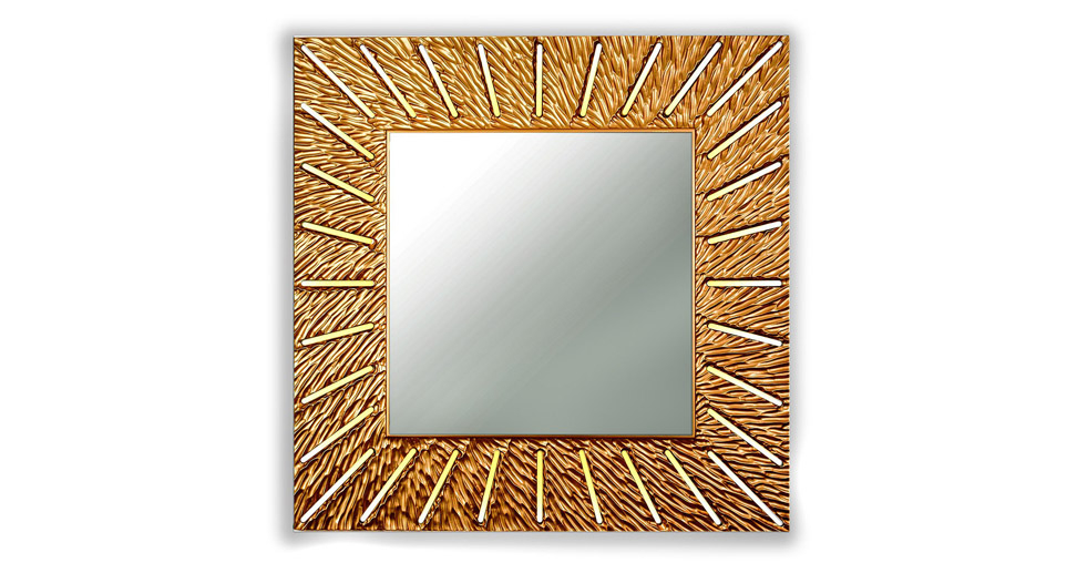 Зеркало SUNSHINE (square bronze)