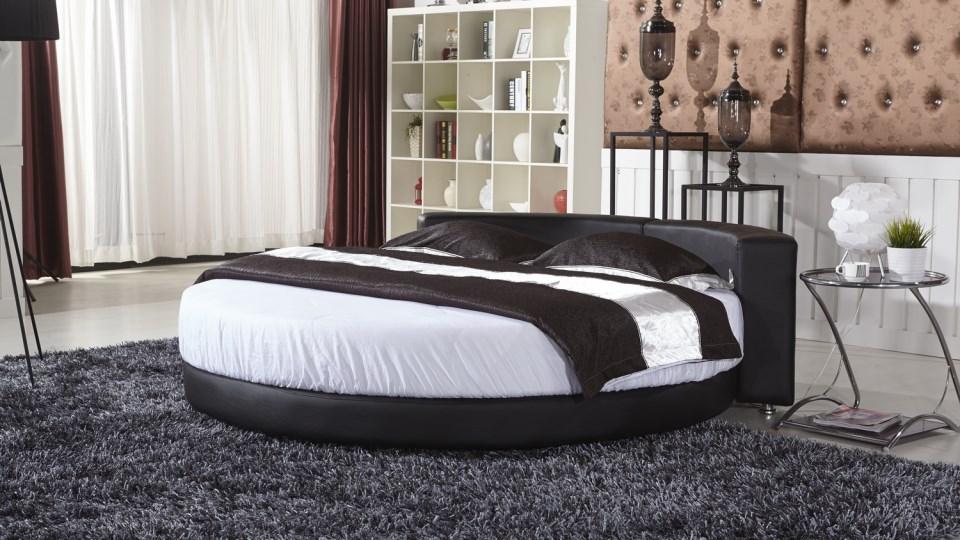 круглые двуспальные кровати на заказ купить элитную круглую кровать