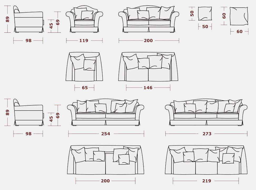 Декоративные подушки на диваны