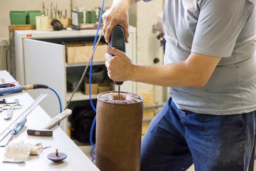 Установка деревянной заглушки