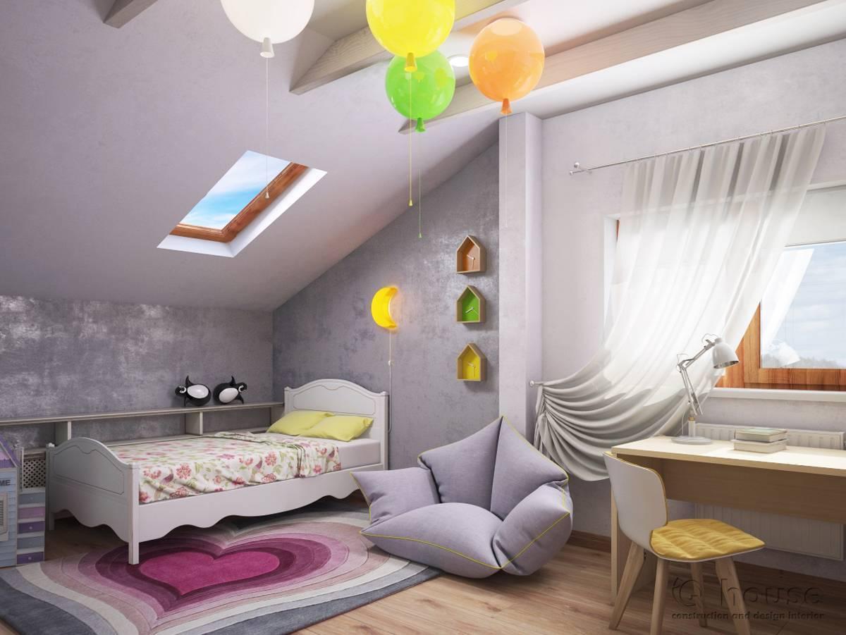 Дизайн мансарды для детской комнаты