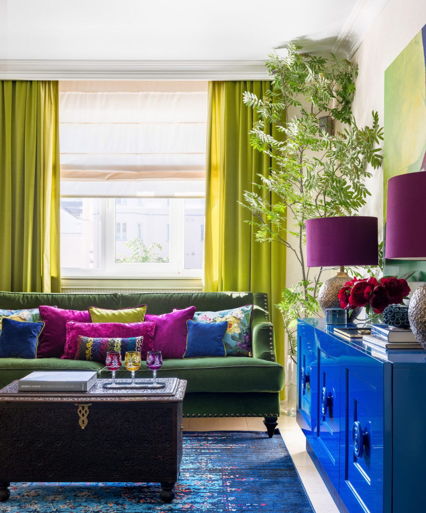 Фото интерьера квартиры в зеленом цвете