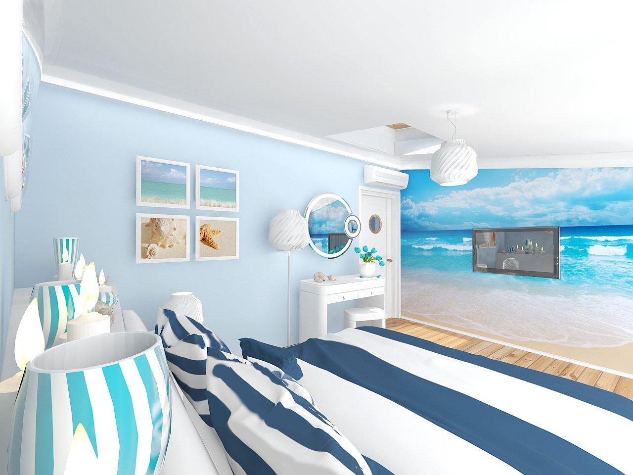 Морской интерьер в квартире