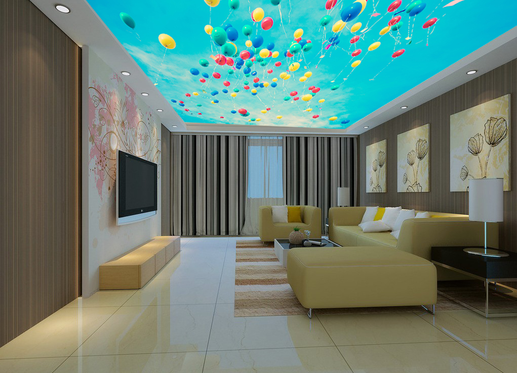 Необычный потолок в зале
