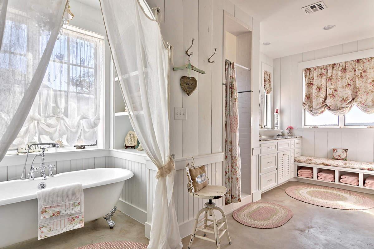 Шебби шик в ванне